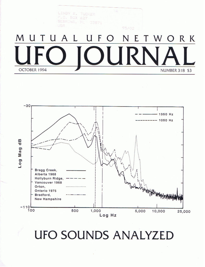My MUFON article 1994